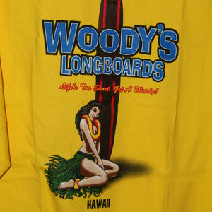 New With Tags Woody's Longboard's Hawaii L